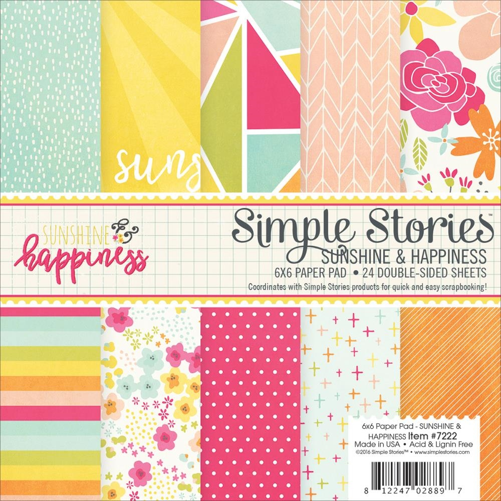 Simple Stories SUNSHINE AND HAPPINESS 6 x 6 Paper Pack 7222 zoom image