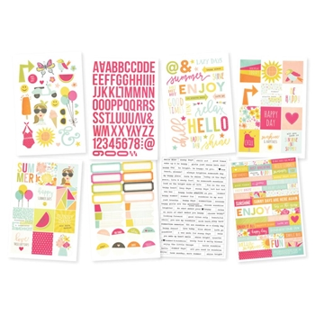 Simple Stories SUNSHINE AND HAPPINESS Stickers 7232