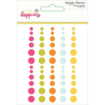 Simple Stories SUNSHINE AND HAPPINESS Enamel Dots 7231