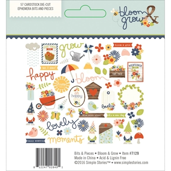 Simple Stories BLOOM AND GROW Ephemera Bits And Pieces 7129