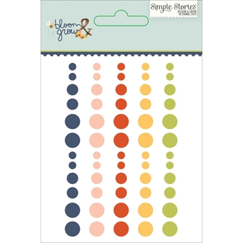 Simple Stories BLOOM AND GROW Enamel Dots 7131