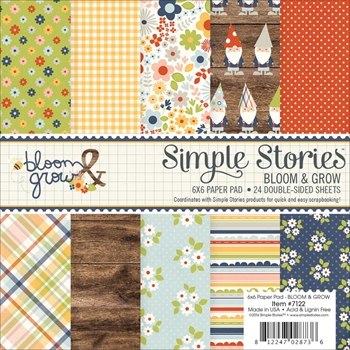 Simple Stories BLOOM AND GROW 6 x 6 Paper Pack 7122
