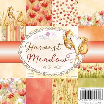 Wild Rose Studio HARVEST MEADOW 6x6 Paper Pack PP050