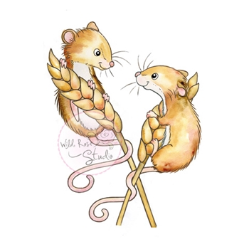 Wild Rose Studio HARVEST MICE Clear Stamp CL493