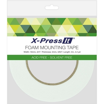 Copic X-Press It Double Sided FOAM 3/4 Inch Mounting TAPE FT18