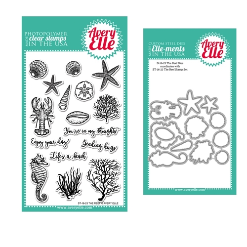 Avery Elle Clear Stamp and Die SETTEAE The Reef SET Preview Image
