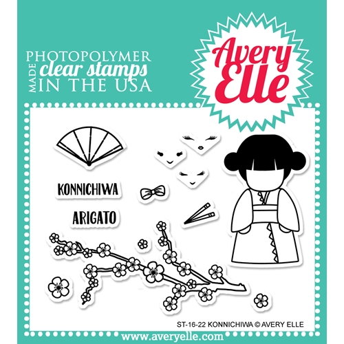 Avery Elle Clear Stamp KONNICHIWA Set 024113 Preview Image