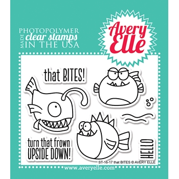 Avery Elle Clear Stamp THAT BITES Set ST-16-17