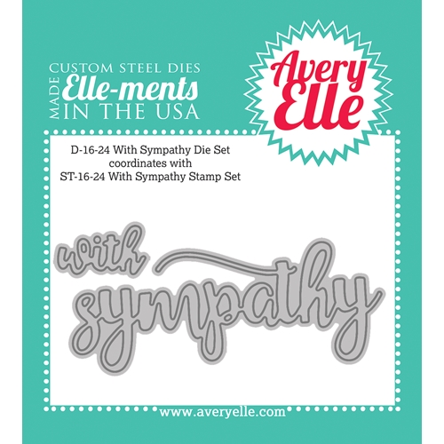 Avery Elle Steel Die WITH SYMPATHY Set D-16-24 Preview Image