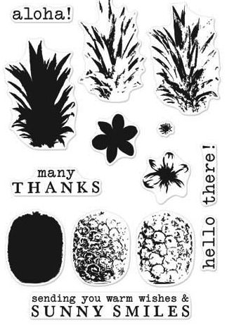 Hero Arts Clear Stamps COLOR LAYERING PINEAPPLE CL976 zoom image