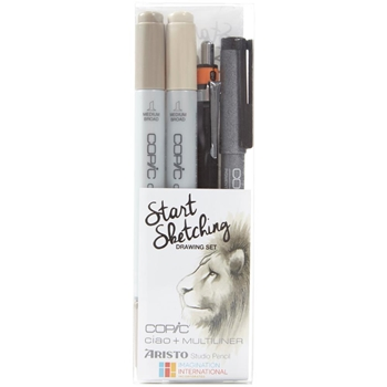 Copic Marker WARM GRAY Start Sketching Set 00810
