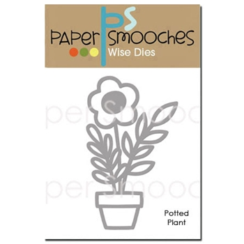 Paper Smooches POTTED PLANT Wise Die J2D329