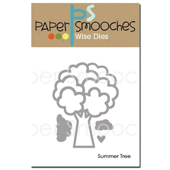 Paper Smooches SUMMER TREE Wise Dies J2D330