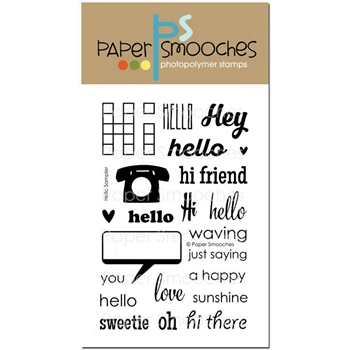 Paper Smooches HELLO SAMPLER Clear Stamps J2S269