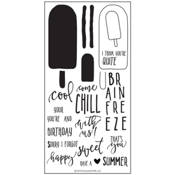 Concord & 9th SWEET & COOL Clear Stamp Set 10095C9