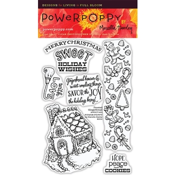Power Poppy FROSTED GINGERBREAD Clear Stamp Set PPOCT1403