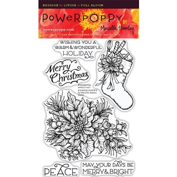 Power Poppy POINSETTIA Clear Stamp Set PPOCT1401