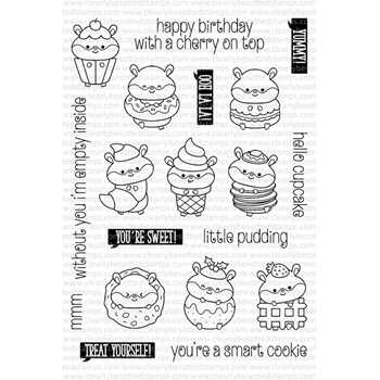 Clearly Besotted SWEET TREATS Clear Stamp Set
