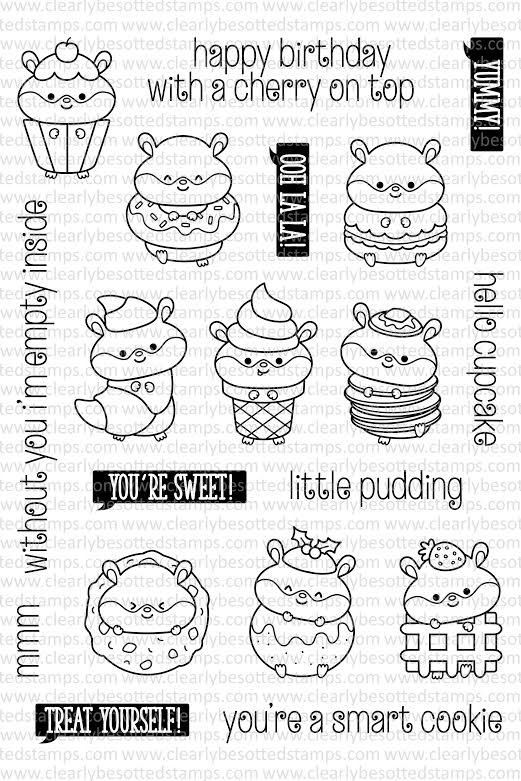 Clearly Besotted SWEET TREATS Clear Stamp Set  zoom image