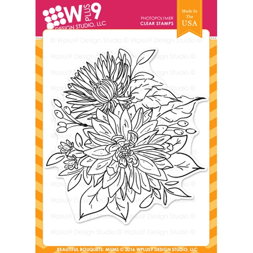 Wplus9 BEAUTIFUL BOUQUET MUMS Clear Stamps CLWP9BBM Preview Image
