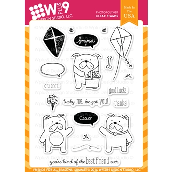 Wplus9 FRIENDS FOR ALL SEASONS SUMMER Clear Stamps CLWP9FFSSU