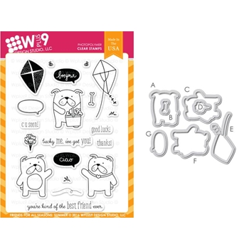 Wplus9 FRIENDS FOR ALL SEASONS SUMMER Clear Stamp And Die Combo WPLUS315