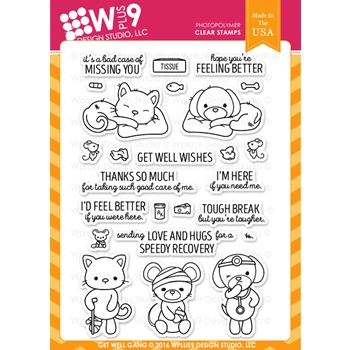 Wplus9 GET WELL GANG Clear Stamps CLWP9GWG