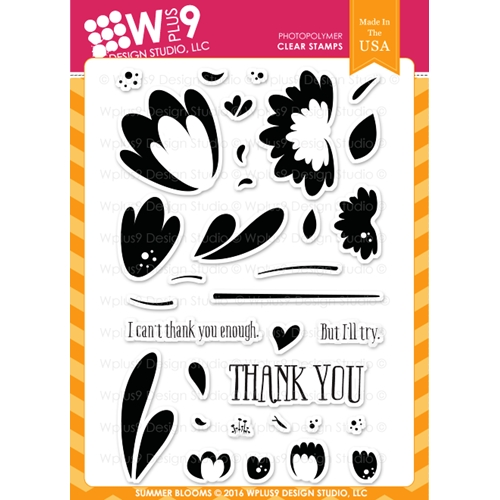 Wplus9 SUMMER BLOOMS Clear Stamps CLWP9SUB Preview Image