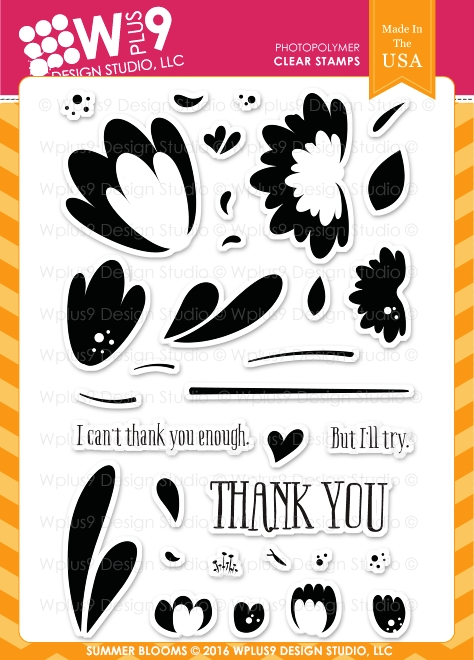 Wplus9 SUMMER BLOOMS Clear Stamps CLWP9SUB zoom image