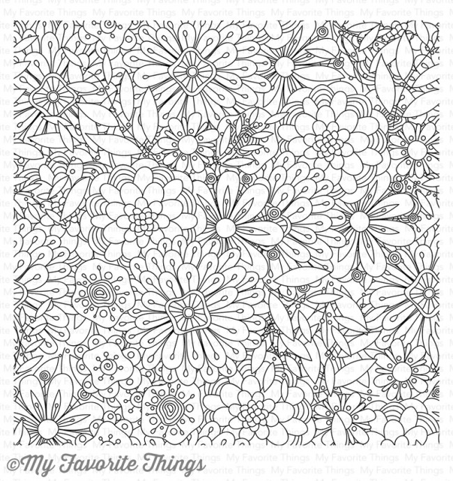My Favorite Things BUNDLES OF BLOSSOMS Cling Stamp BG76 zoom image