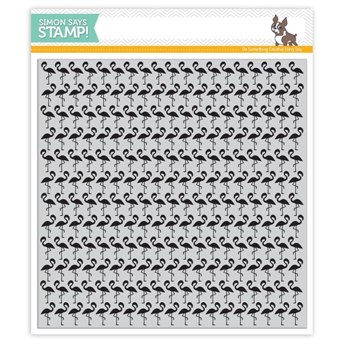Simon Says Cling Stamp FLAMINGOS BACKGROUND SSS101615 Among The Stars Preview Image