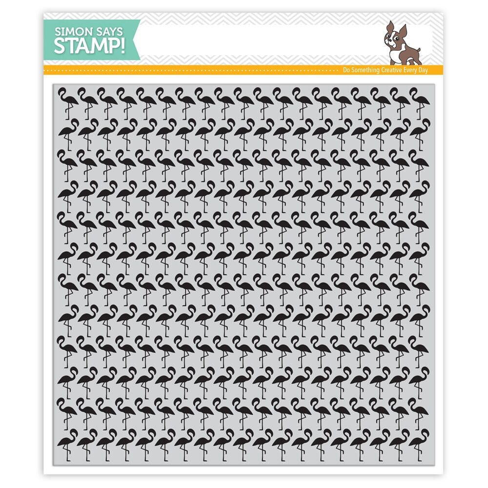 Simon Says Cling Stamp FLAMINGOS BACKGROUND SSS101615 Among The Stars zoom image
