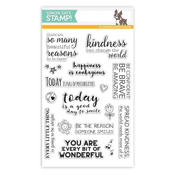 RESERVE Simon Says Clear Stamps UPLIFTING THOUGHTS SSS101623 Among The Stars