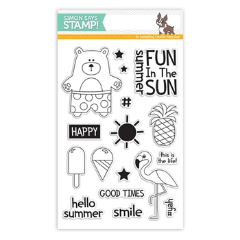 RESERVE Simon Says Clear Stamps SUMMERTIME ANIMALS SSS101614 Among The Stars