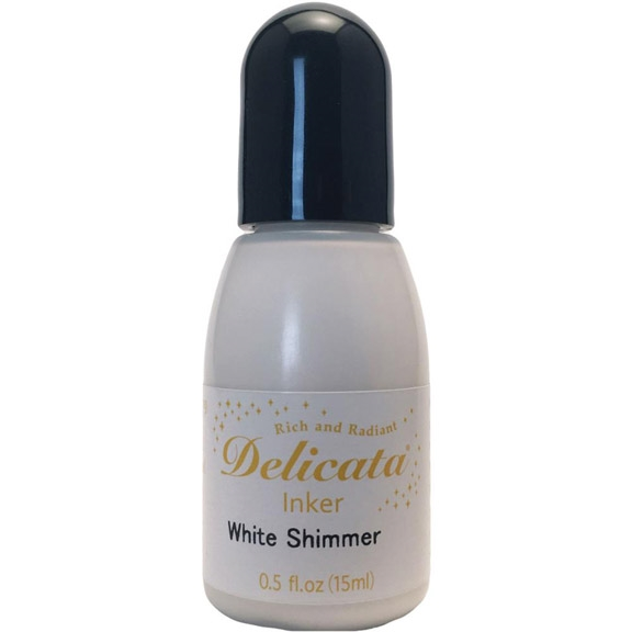 Tsukineko Delicata WHITE SHIMMER REFILL Ink RC000380 zoom image