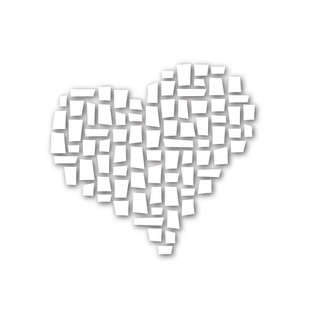 Simon Says Stamp MOSAIC HEART Wafer Dies SSSD111591 Among The Stars zoom image