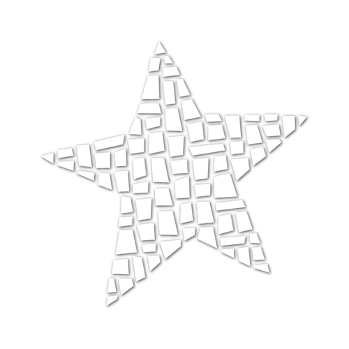 Simon Says Stamp MOSAIC STAR Wafer Dies SSSD111583 Among The Stars Preview Image