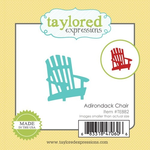 Taylored Expressions Little Bits ADIRONDACK CHAIR Die Set TE882 zoom image