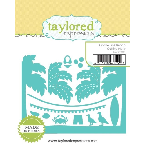 Taylored Expressions ON THE LINE BEACH Cutting Plate Die TE881 Preview Image