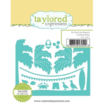 Taylored Expressions ON THE LINE BEACH Cutting Plate Die TE881