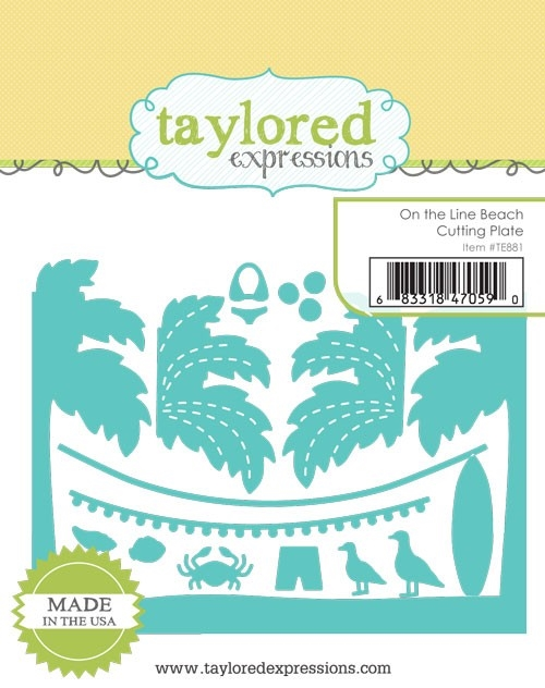 Taylored Expressions ON THE LINE BEACH Cutting Plate Die TE881 zoom image