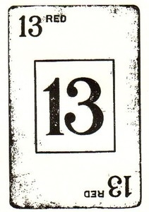 Tim Holtz Rubber Stamp LUCKY 13 Card Stampers Anonymous M3-1331 zoom image