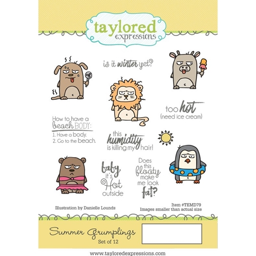 Taylored Expressions SUMMER GRUMPLINGS Cling Stamp Set TEMD79 Preview Image