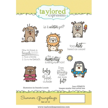 Taylored Expressions SUMMER GRUMPLINGS Cling Stamp Set TEMD79