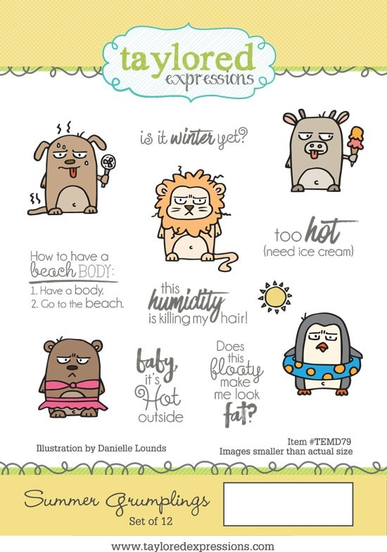 Taylored Expressions SUMMER GRUMPLINGS Cling Stamp Set TEMD79 zoom image