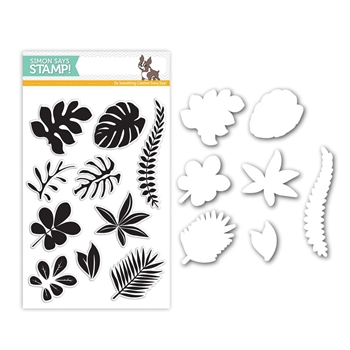 Simon Says Stamps And Dies TROPICAL LEAVES Set262TL Among The Stars