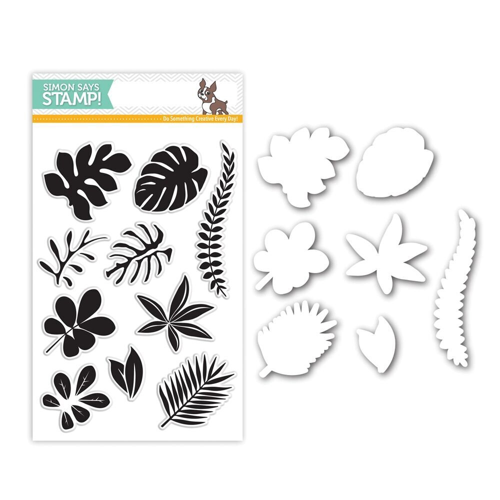 Simon Says Stamps And Dies TROPICAL LEAVES Set262TL Among The Stars zoom image