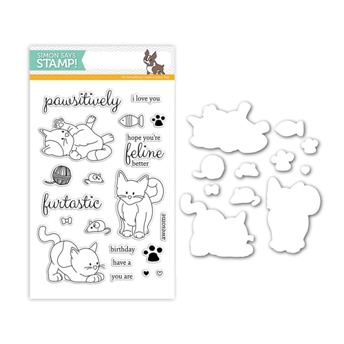 Simon Says Stamps And Dies PLAYFUL KITTENS Set264PK Among The Stars Preview Image