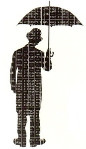 Tim Holtz Rubber Stamp UMBRELLA MAN P2-1332 Stampers Anonymous Preview Image