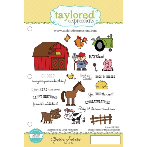 Taylored Expressions GREEN ACRES Cling Stamp Set TEFS45 Preview Image